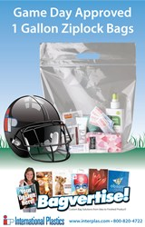 1 gallon ziplock bags with handle NFL Game Day approved.