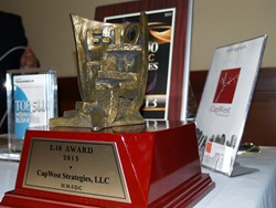 e-10 Award Statue for PR efforts