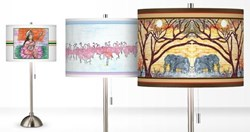 Student Art Lamp Shades Benefiting The School Fund