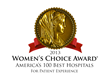 Women voted Franklin Woods Community Hospital as America's Best Hospital for Patient Experience