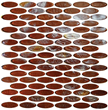 Tesoro 12 X 12 jazzy oval glass mosaic sheet - 8mm from REFLECTIONS - KELUJA21416