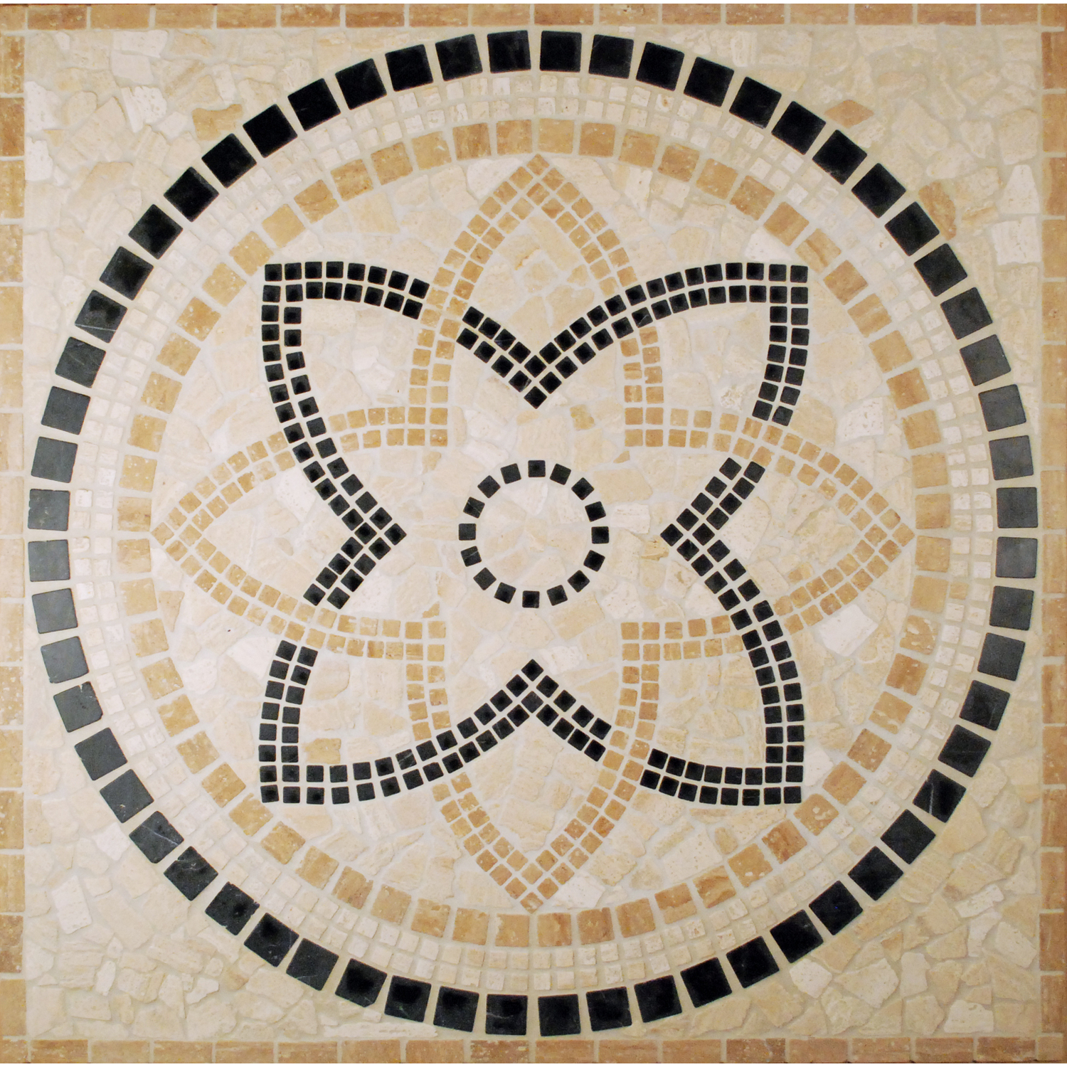 Homethangs has introduced a guide to diy floor medallions tesoro 36x36 square tumbled medallion from appia driappmed dailygadgetfo Gallery