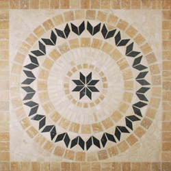Tesoro 36X36 square tumbled medallion from CORSICA - DRICOSMED