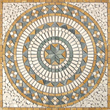 Tesoro 36X36 square tumbled medallion from EMILIA - OWTMEMMED