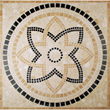 Tesoro 36X36 square tumbled medallion from APPIA - DRIAPPMED