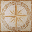 Tesoro 36X36 square tumbled medallion from COMPASS #2 - OWTMCONOBEMED