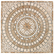 Tesoro 36X36 square tumbled medallion from MADRID - OWTMMAMED