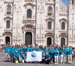 Volunteers from the Church of Scientology of Milan reach out to youth with The Truth About Drugs education materials at Piazza Duomo in the heart of the city.