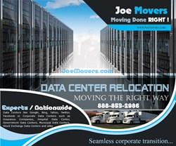 Data Center Relocation Services - Data Center Movers by JOE Movers   Call Today 1-888-853-2986