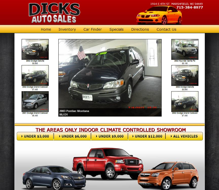 Dealership inventory website for dick s auto sales for Law motors sioux falls sd