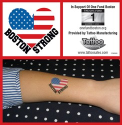 Temporary tattoos can be used to promote nonprofit causes.