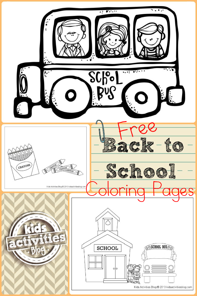 Back to School Coloring Pages Have Been Released on Kids