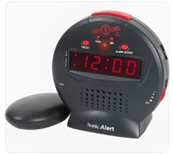 Economical and powerful extra-loud vibrating alarm clock