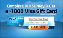 Visa Gift Card for $1000