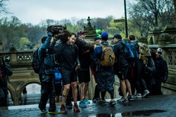 "Event participants carry ""team weight"" throughout the GORUCK challenge."