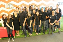 Photo of the Trend Nation team taken during the Ribbon Cutting Ceremony.