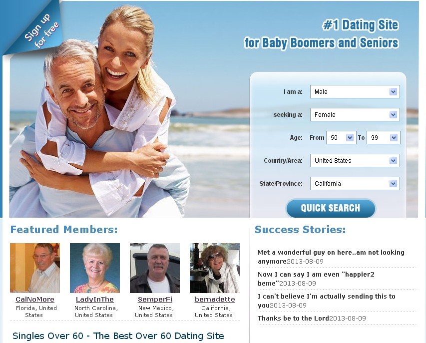 Free elderly dating sites