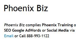 Phoenix Training Blog Launches: Phoenix SEO, Social Media, and AdWords Training