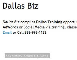 Dallas Texas Training for Small Businesses - SEO, AdWords, and Social Media Trainings