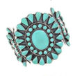Turquoise Cuff May Be Elegant or Casual Accessory According to New...