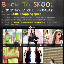 OASAP APP, Fashion Media,Back to School