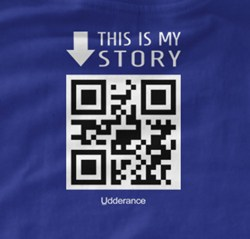 QR code on t-shirt