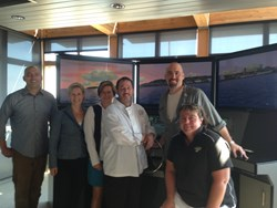 Members of the Resort at Port Ludlow joined members of the NW Maritime Center at the center itself.