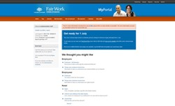 The Office of the Fair Work Ombudsman - My Portal Screenshot - elcomCMS