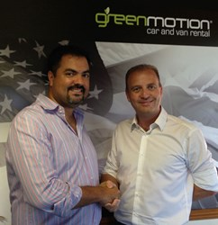 Richard Lowden of Green Motion with Patricio Franulic of Green Motion Florida.