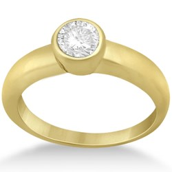 Bezel Set Engagement Ring Setting in 14k Gold from Allurez.com