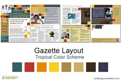 Audiology Newsletter: Gazette Layout in Tropical Colors