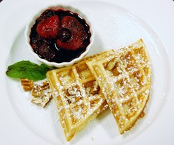healthy waffles at Hilton Head Health