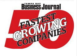 Tampa Bay Business Journal Names 50 Fastest Growing Companies