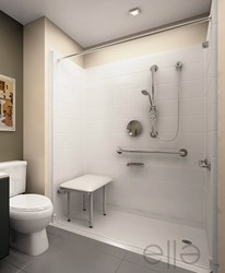 Handicap shower with built in seat