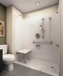 Handicap shower with built in seat