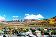 Crested Butte with fall foliage backdrop