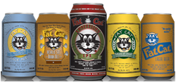 The Fat Cat Beer Company 5 beer styles.