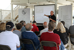 Lippert Components General Manager Steve Paul leads a seminar on Aftermarket products.