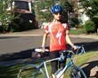 Gritta biked over 1,600 miles while working toward the 200 hours of Physical Activity required for the Gold Medal.