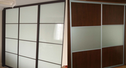 Superglide Oriental Sliding Wardrobe Doors (left), and Millennium Sliding Wardrobe Doors