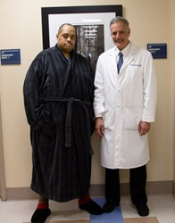 Dr. Joel Gelman with his patient Wesley Warren