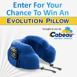 "Enter Cabeau's ""Free Pillow A Day Sweepstakes"" for your chance to win!"