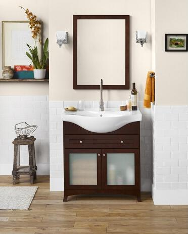 ronbow 053831 71 adara 31 space saver cabinet with two frosted glass doors and drawer 349 bathroom - Bathroom Cabinets Space Saver