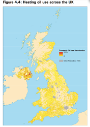 Heating Oil use across the UK, from OFT report Off-Grid Energy, October 2011. OFT1380