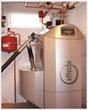 35kW Effecta Komplett II biomass boiler installed in a large rural farmhouse