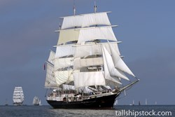 Tenacious taking part in the Tall Ships Races in the Baltic Sea
