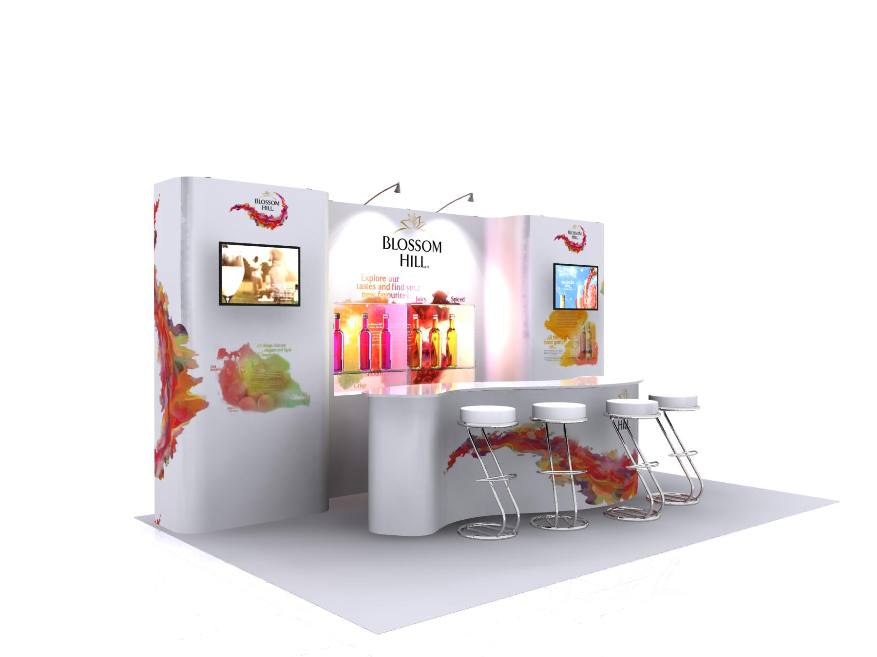 Modern Exhibition Stand Out : New exhibition design concept shellsmart takes shell