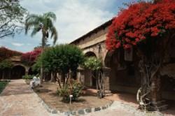 Orange County courtyard