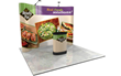 10 Foot Curved Pop Up Display, Free Trade Show Setup and Installation