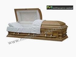 Solid Ash Wood Casket